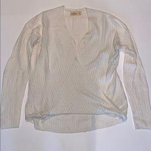 Hollister v-neck women's sweater